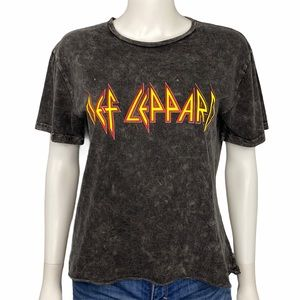 Def Leppard NEW Grey Band T Shirt Size L